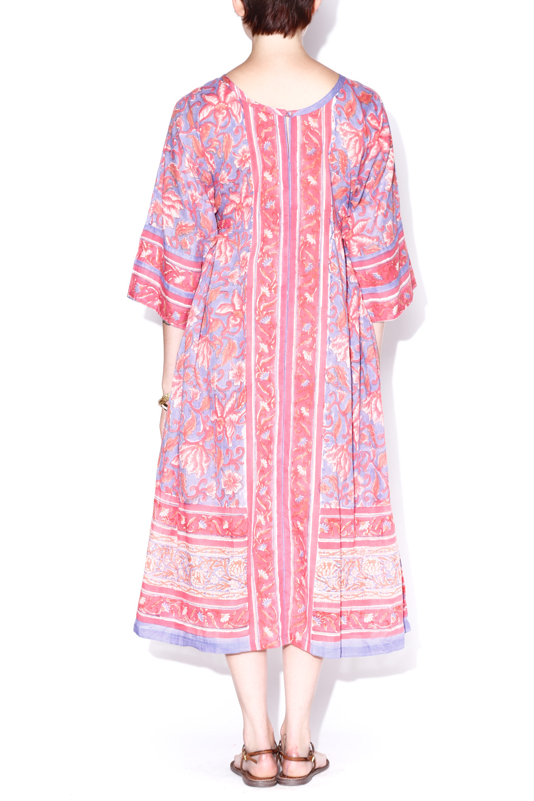 Kerry Cassill Big Floral Kurta - Back Cropped Image
