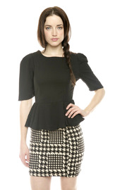 Shoptiques Product: Half-Sleeve Peplum Top