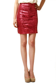 Gwen Beloti Sequin Mini Skirt - Front cropped