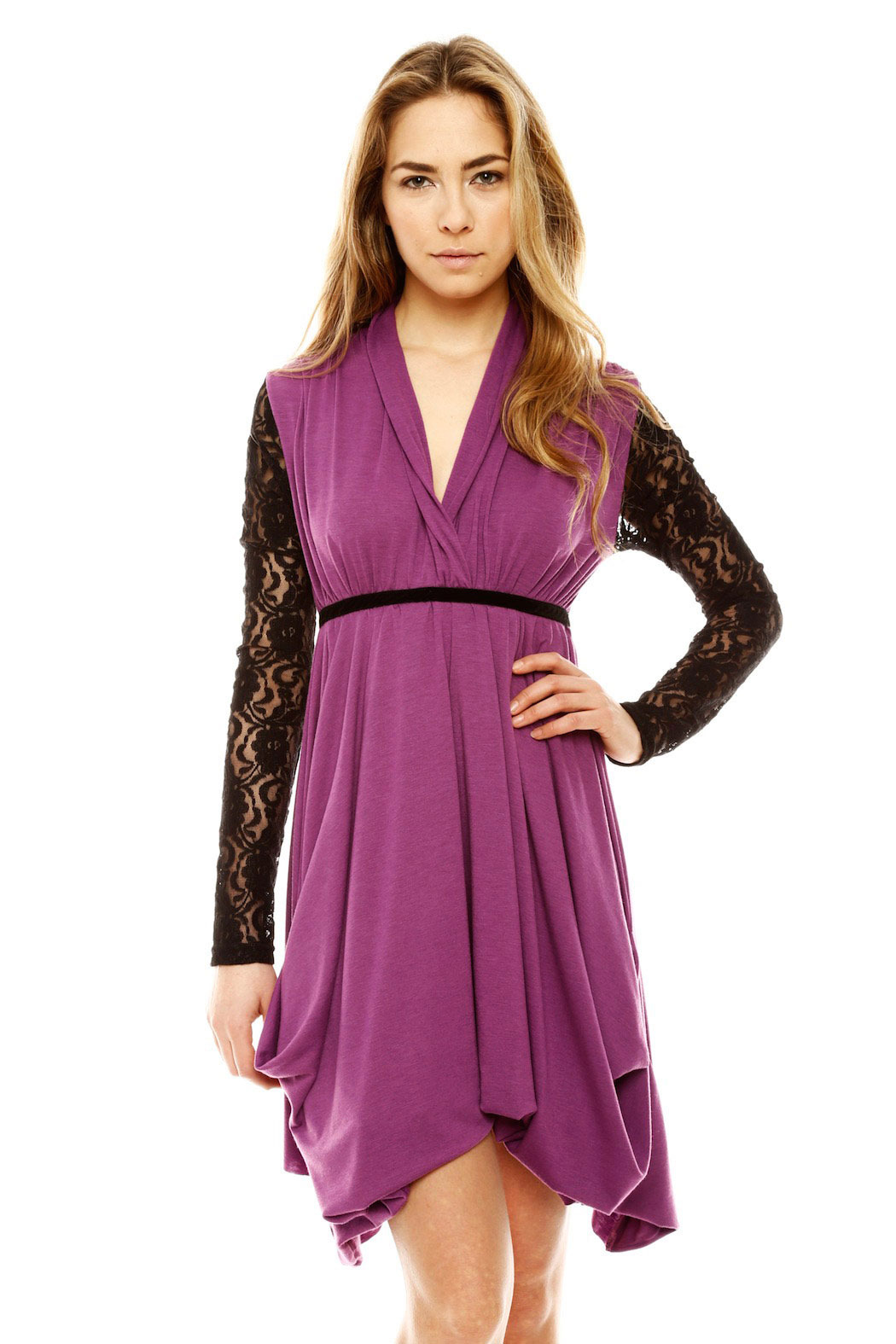 ToughLove Lace Sleeve Dress - Front Cropped Image
