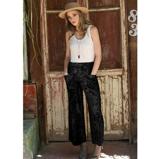 Shoptiques Product: Cropped Crushed Velvet Pant