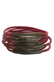 Made It! Gunmetal Leather Bangles - Other