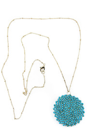 Fanaberie Turquoise Bead Necklace - Front full body