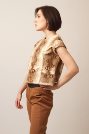 Shoptiques Product: Python Snake Skin Top - Side cropped