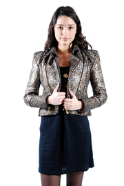 Shoptiques Product: Gold Patterned Jacket