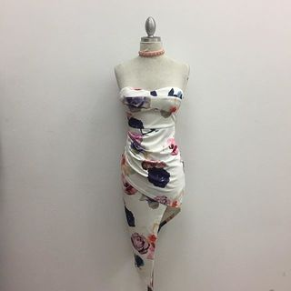 Shoptiques Floral Printed Strapless Dress