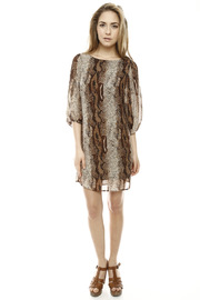Shoptiques Product: Snake Print Dress - Front full body