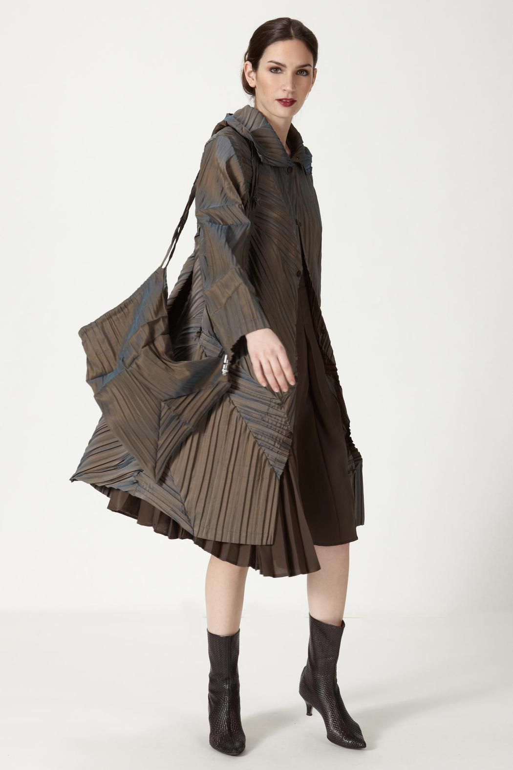 BABETTE Pleated Raincoat from California by Phyllisophical — Shoptiques
