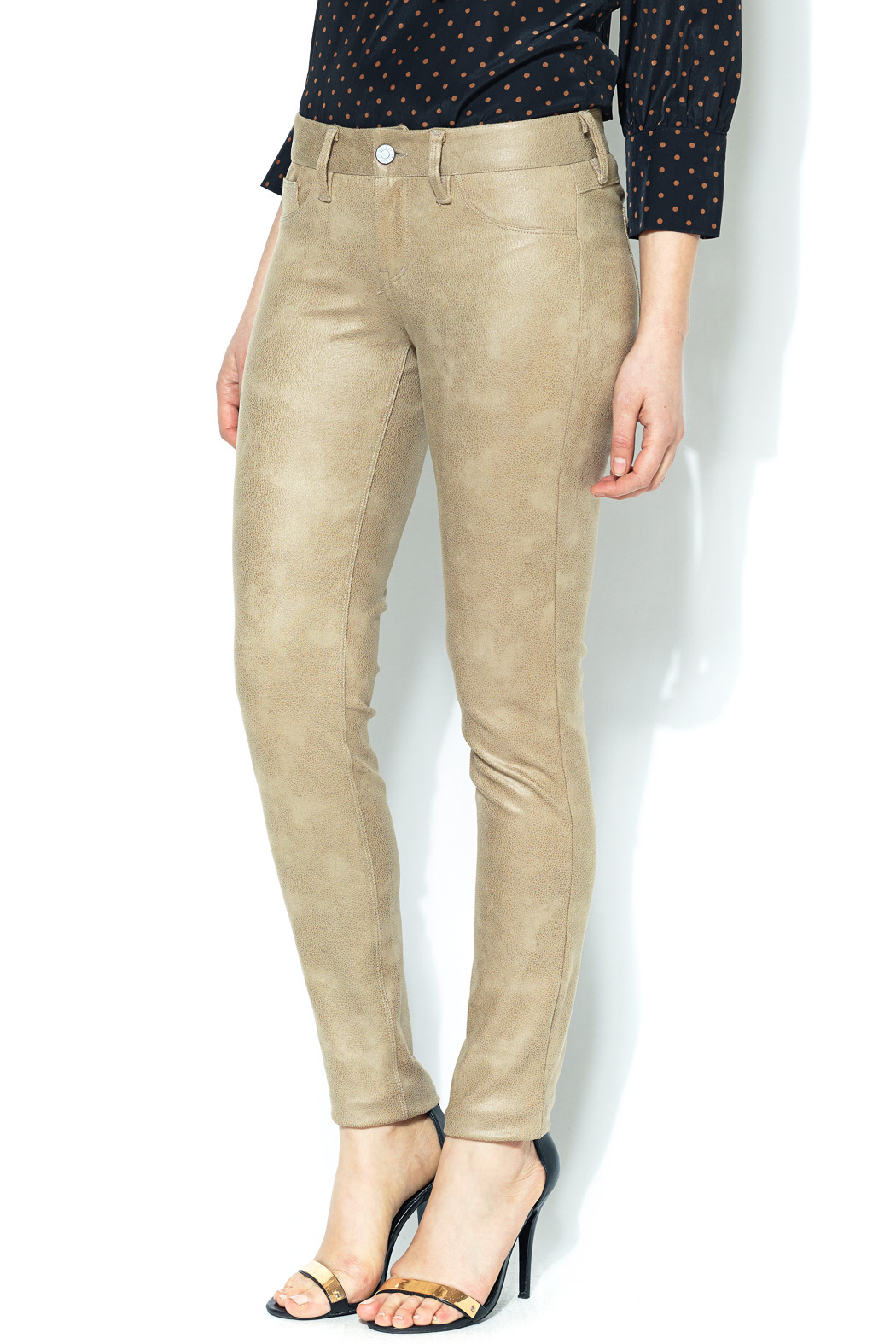 SOLD Faux Suede Skinny Pant - Main Image