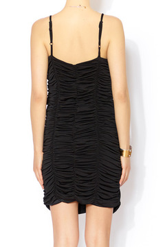 Banana Monkey Gathered Black Dress - Alternate List Image