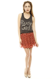 Junk Food Clothing Rude Girl Tank - Front full body