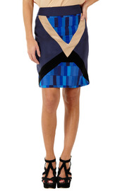 Shoptiques Product: Geometric Patchwork Skirt