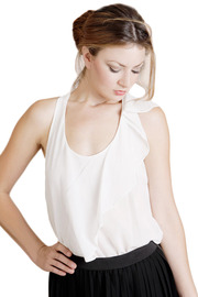 Shoptiques Product: Ruffle White Tank