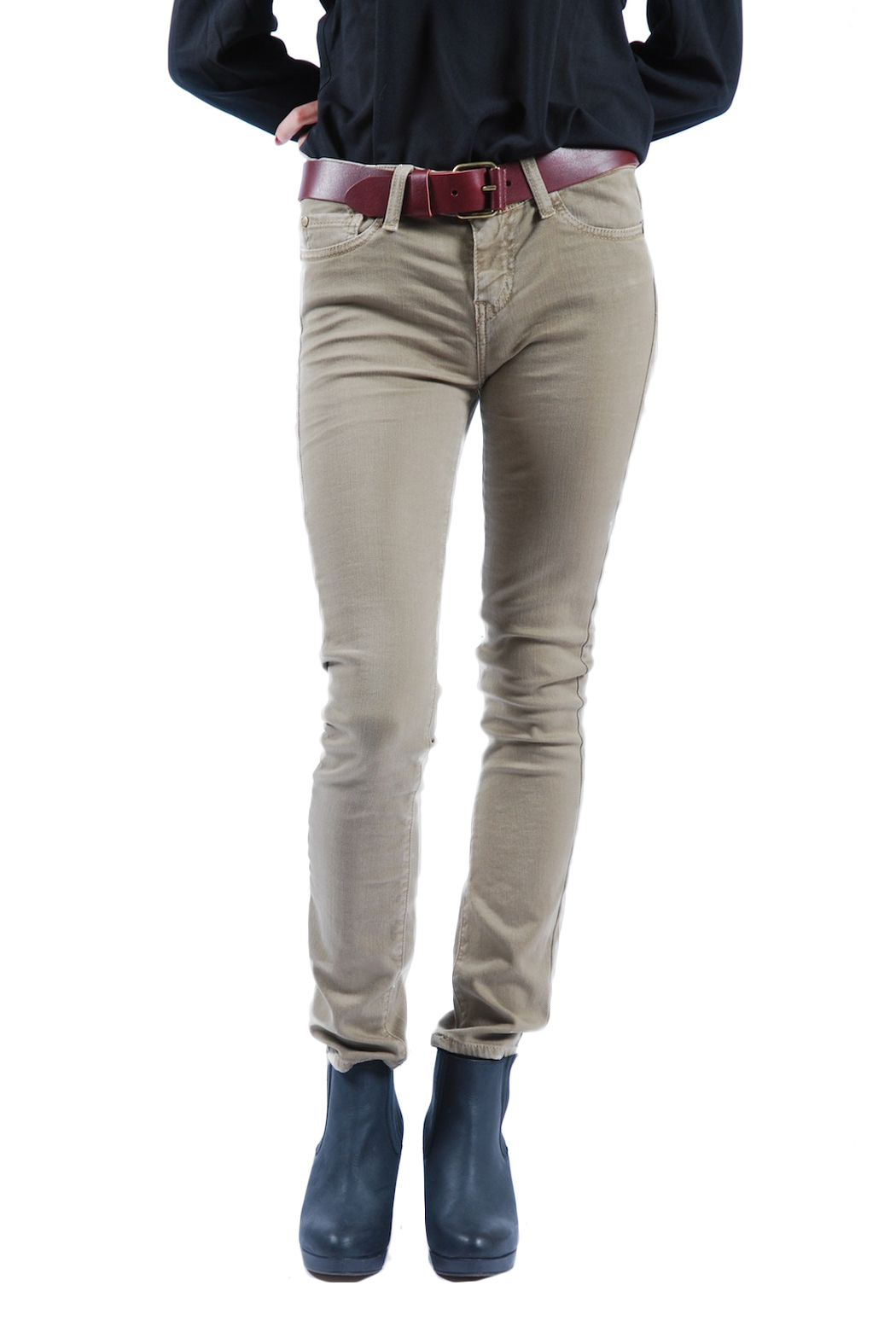 Acquaverde Colored Scarlett Skinny Jeans - Front Cropped Image