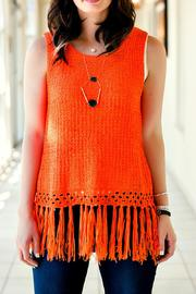 Fringe Knit Top - Product Mini Image