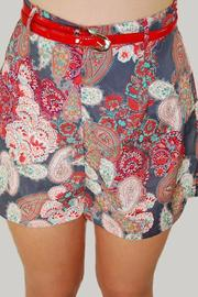 Dex High-Waisted Paisley Shorts - Other