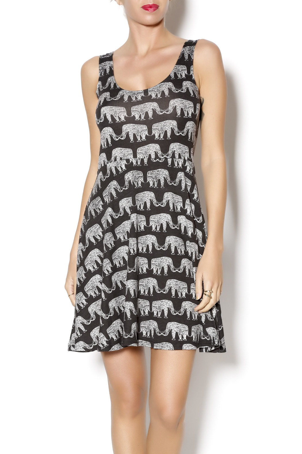 Angie Elephant Print Dress From Delaware By Grassroots