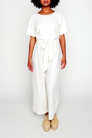 Shoptiques Product: Cropped Raw Silk Jumpsuit