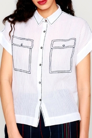 Shoptiques Product: Embroidered Pocket Shirt