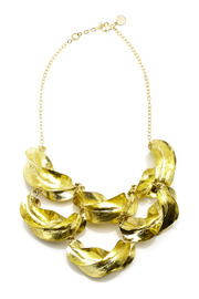 Zia Fulani Gold Statement Necklace - Front cropped