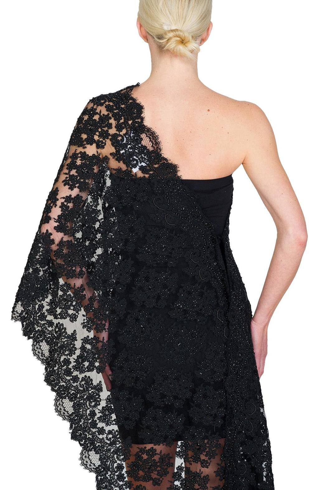 CLAIRE FLORENCE Black Beaded Lace - Back Cropped Image