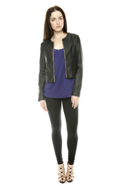 Shoptiques Product: Chain Trim Jacket - Front full body