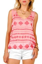 Shoptiques Product: Chiffon Embroidered Tank