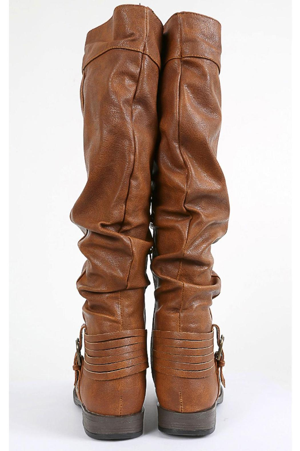 Bamboo Buckled & Belted Knee-High - Back Cropped Image