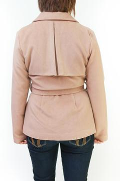 Tulle Belted Camel Coat - Alternate List Image