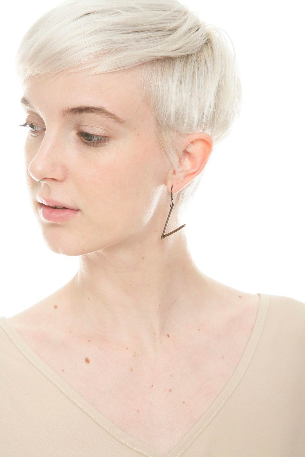 The J Line by Lady J Jewelry Angle Earrings - Side Cropped Image