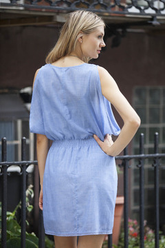 Gentle Fawn Chambray Open Shoulder Dress - Alternate List Image