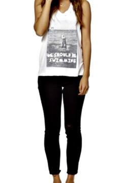 35MM Clothing Swimming Graphic Tank - Product List Image