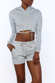 36.5 Distressed Matching Sweater Set - Front cropped