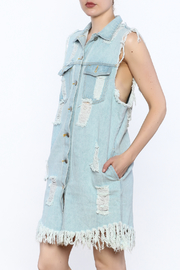 36.5 Distressed Denim Dress - Product Mini Image