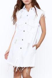36.5 White Denim Dress - Product Mini Image