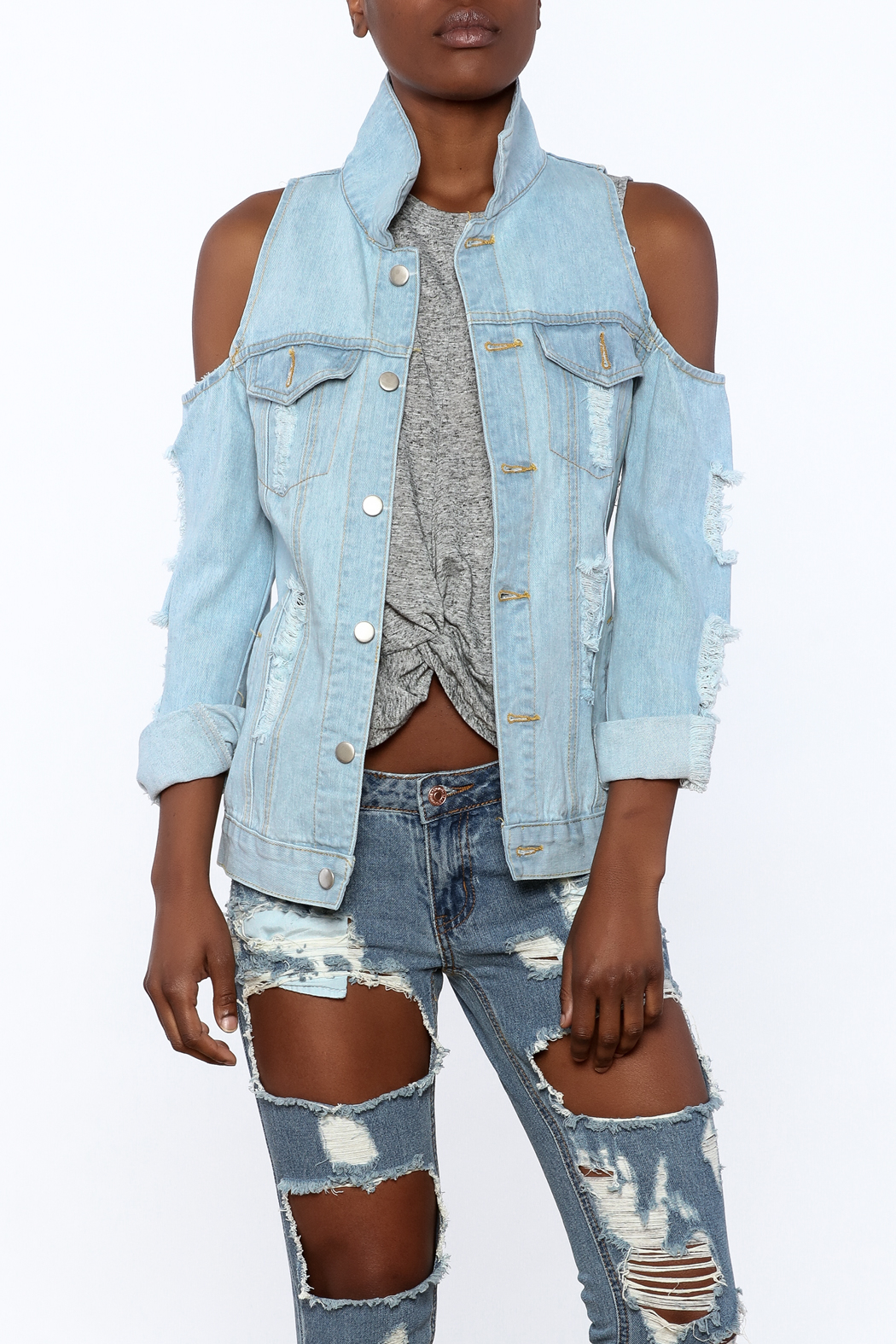 36 POINT 5 Modern Day Denim Jacket - Main Image