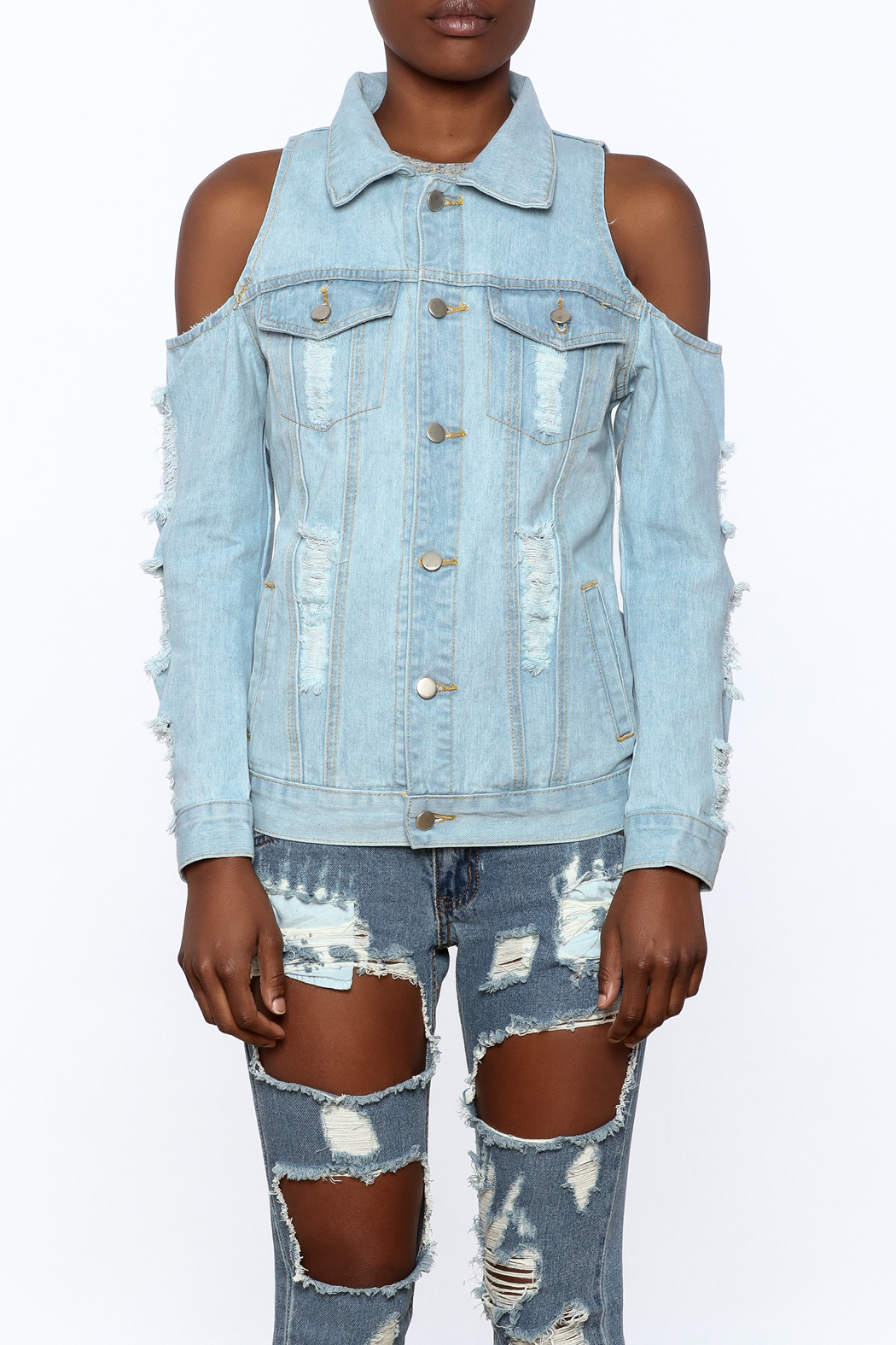 36 POINT 5 Modern Day Denim Jacket - Side Cropped Image