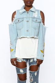 36 POINT 5 Cropped Denim Jacket - Side cropped