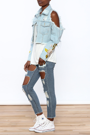 36 POINT 5 Cropped Denim Jacket - Front full body