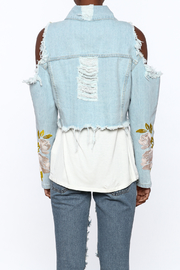 36 POINT 5 Cropped Denim Jacket - Back cropped