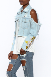 36 POINT 5 Cropped Denim Jacket - Front cropped