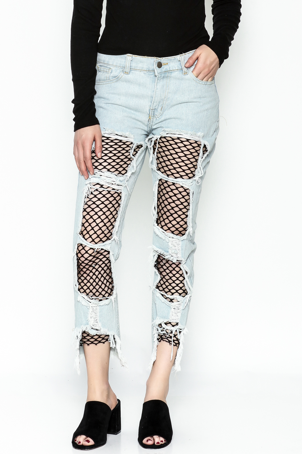 36 POINT 5 Jeans With Fishnets - Main Image