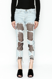 36 POINT 5 Jeans With Fishnets - Front full body
