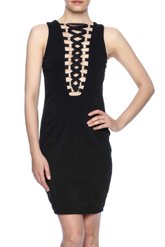 36 POINT 5 Lace-Up Bodycon Dress - Product List Image