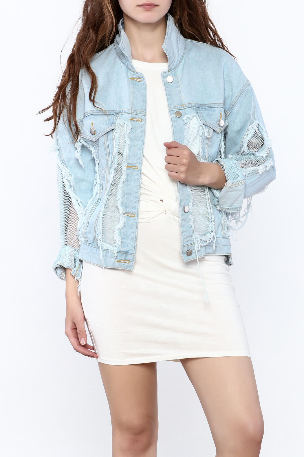36 POINT 5 Modern Day Denim Jacket - Front Cropped Image