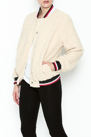 36 POINT 5 Plush Baseball Jacket - Front cropped