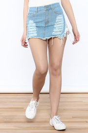 36 POINT 5 Denim Lace-Up Skirt - Product Mini Image