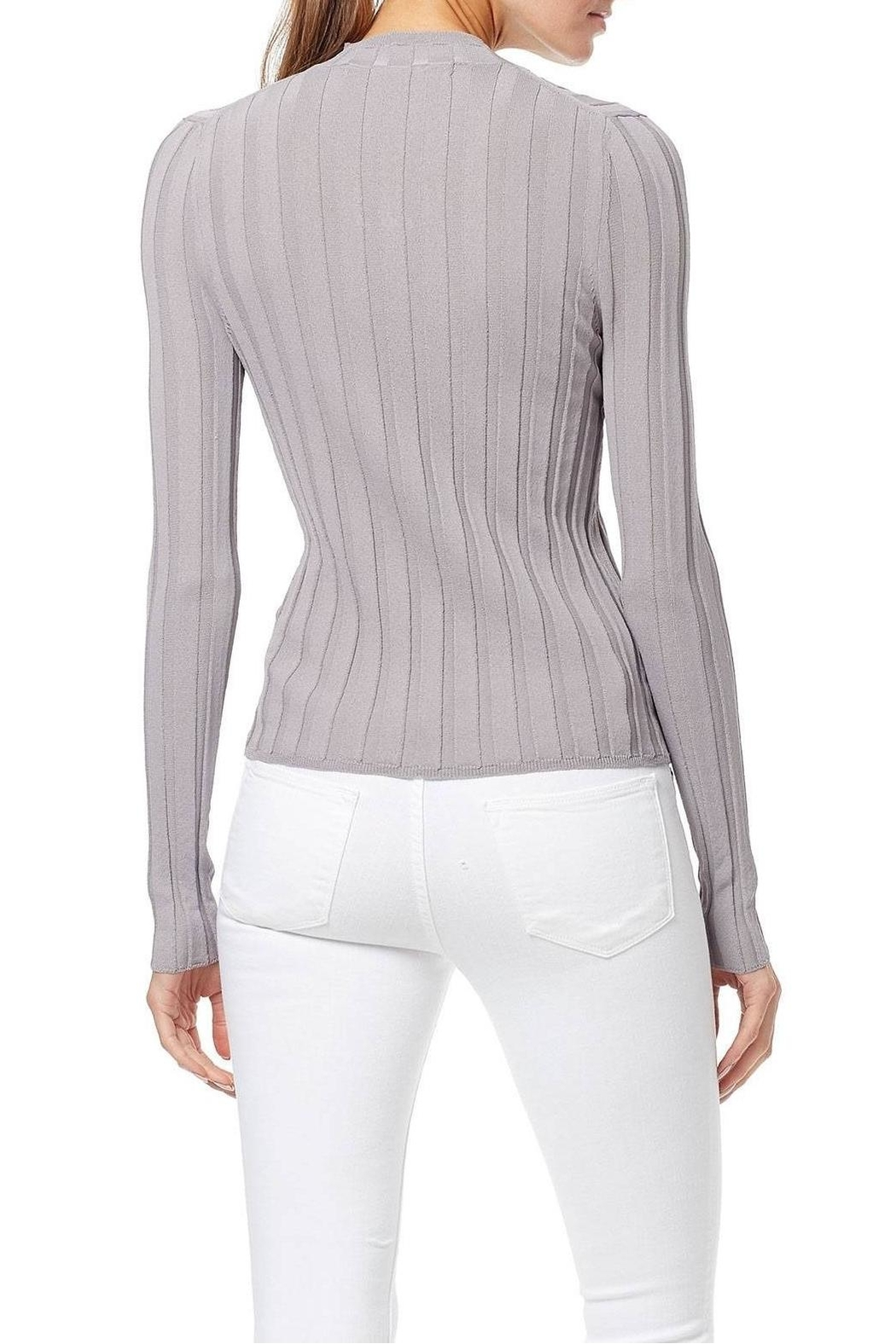 360 Cashmere Amalie Ribbed Top - Side Cropped Image