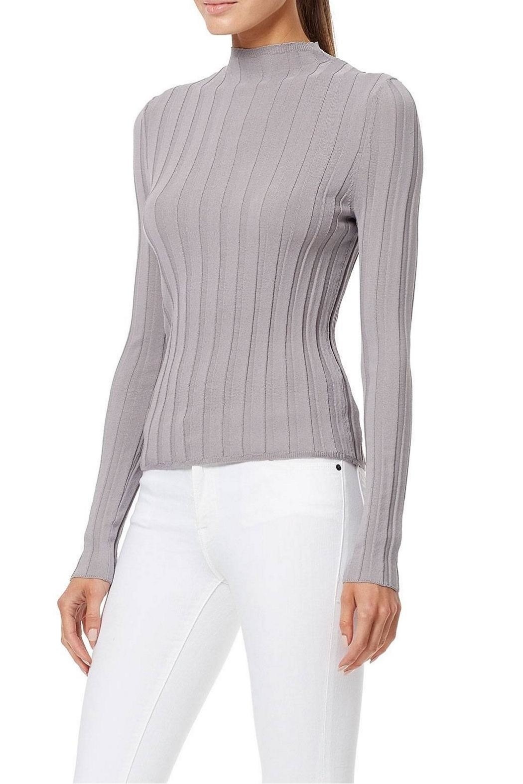 360 Cashmere Amalie Ribbed Top - Front Full Image