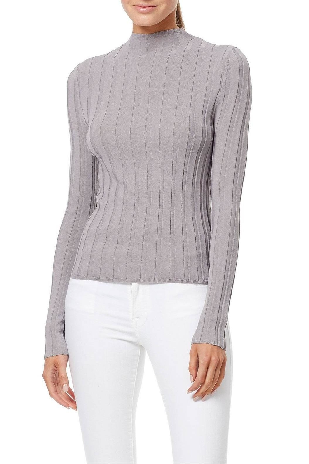 360 Cashmere Amalie Ribbed Top - Front Cropped Image
